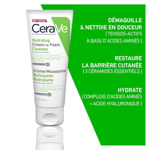 Cerave crème moussante Nettoyante Hydratante 100 ml PNS