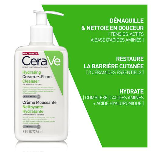Cerave mousse Nettoyante Hydratante 236 ml PNS