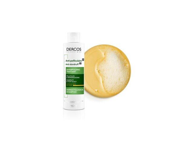 Vichy Dercos Shampooing Antipelliculaire - Cheveux Secs - 200 ml
